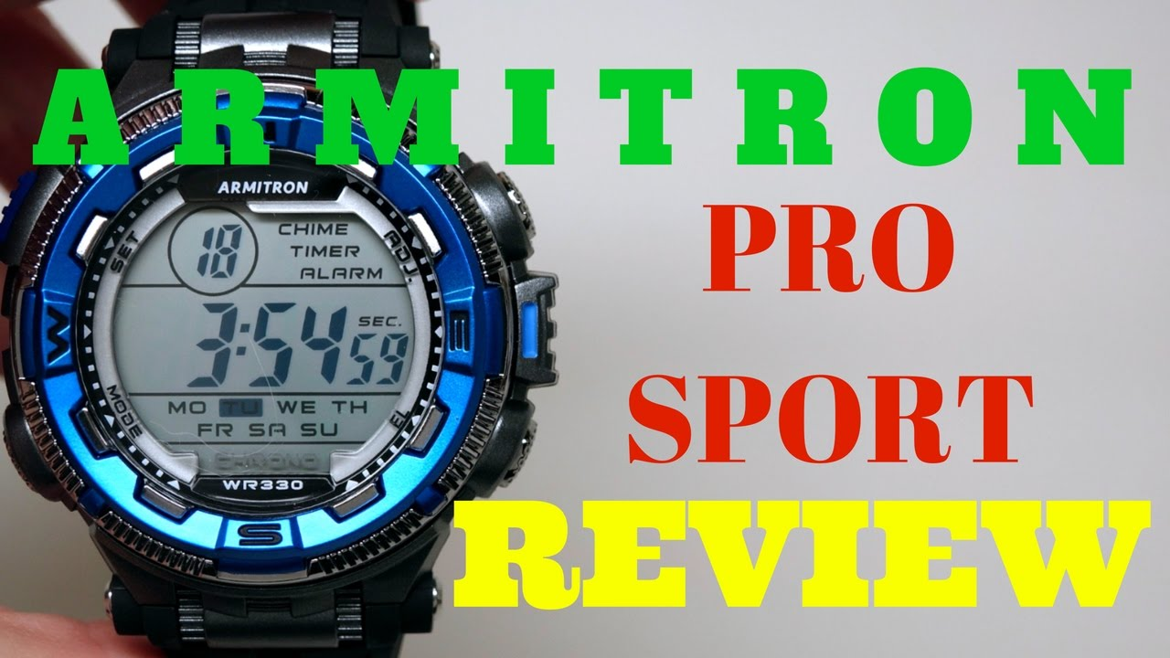 4k Armitron Pro Sport Mens Watch Review Model 408301 Youtube