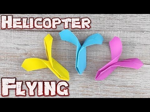 Origami Paper Helicopter | How To Make Flying Paper Helicopter | DIY Up Flying Paper Helicopter