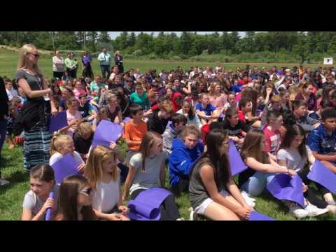 Richard Florence surprise send-off at Raynham Middle School Thursday, June 8.
