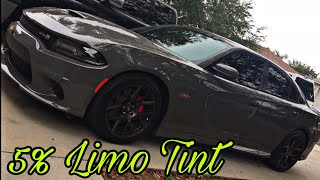 Brand New 2018 Dodge Charger Scat Pack 5% limo tint!