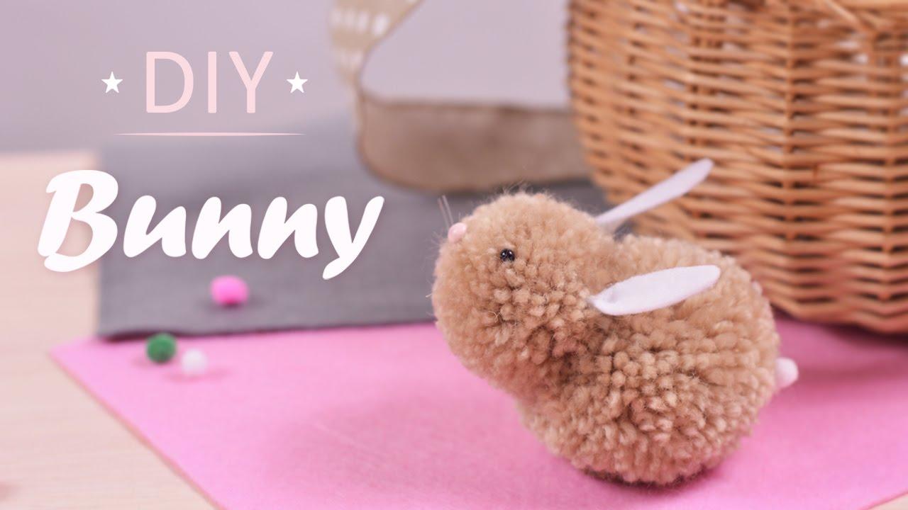 how to make pom pom bunnies