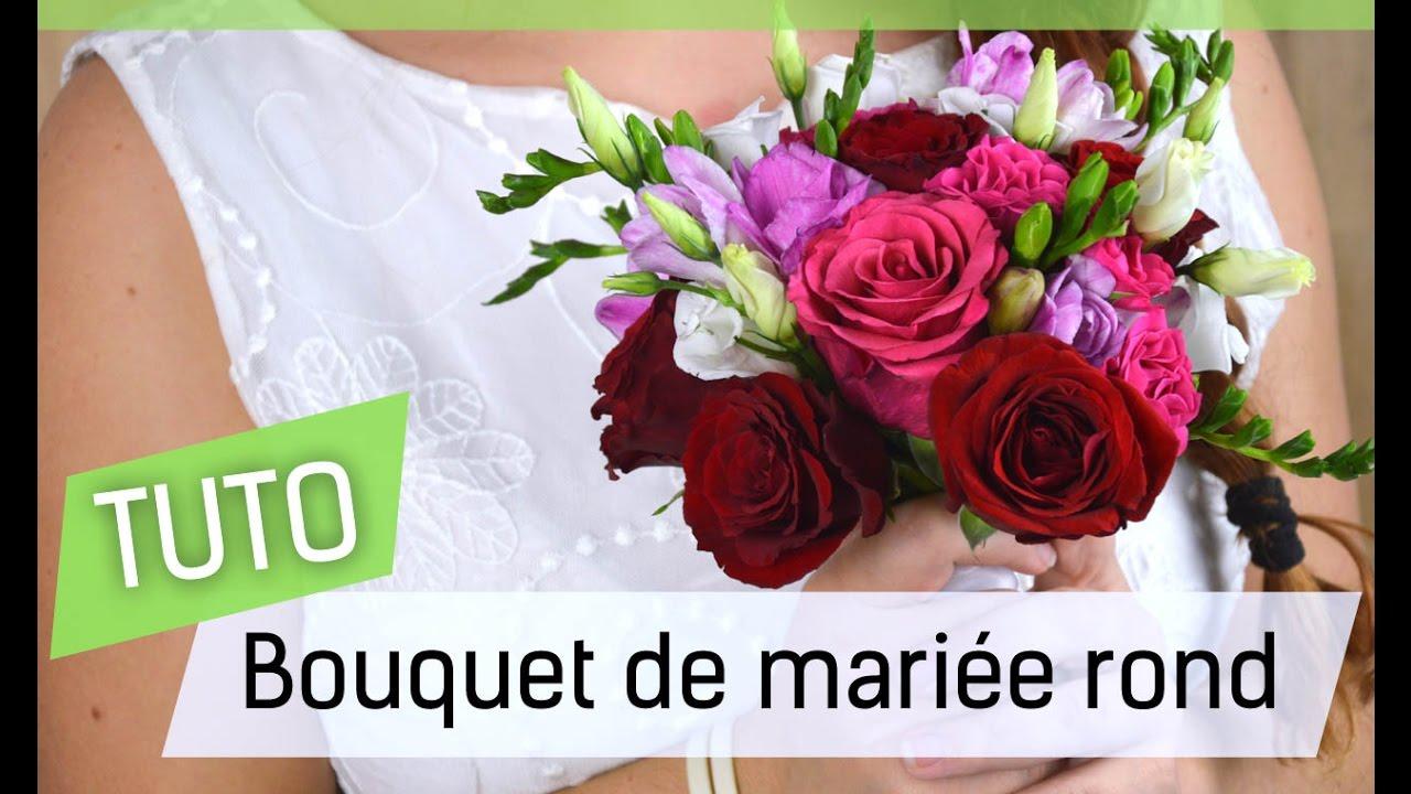 tutoriel faire son bouquet de mari e rond soi m me youtube