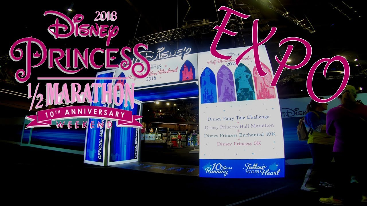2018 Walt Disney World Princess Half marathon EXPO - YouTube Disney Princess Half Marathon Map on