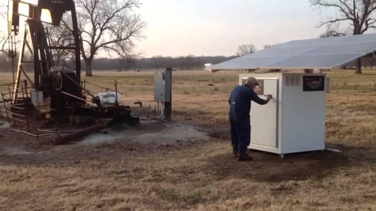 oil pump jack powered by north creek energy u0027s solar drive youtube