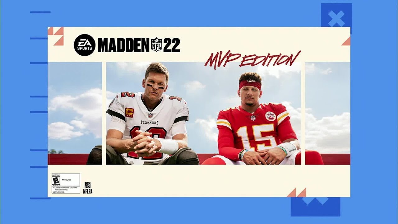 Tom Brady, Patrick Mahomes featured as 'Madden 22' cover athletes