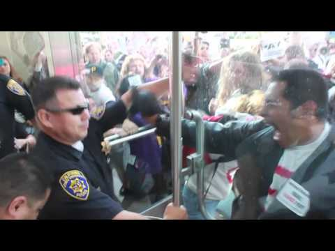 Protesters pepper sprayed by police at CSU board of trustees meeting