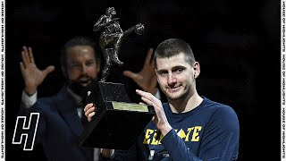 Nikola Jokic Receives the MVP Trophy 🏆