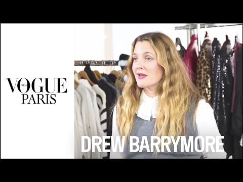 Drew Barrymore in the Vogue Paris Fashion Closet | VOGUE PARIS