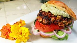 Chicken Sun Dried Tomato Cheddar Burger