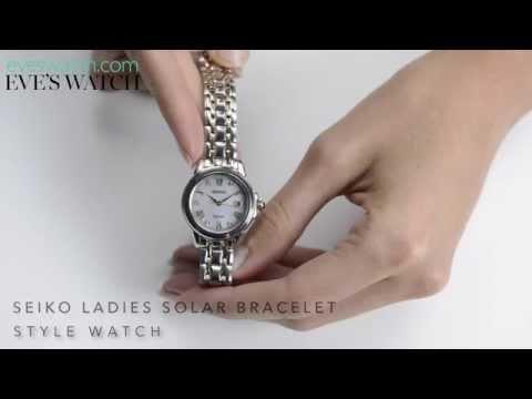 Seiko Solar Ladies Bracelet Watch
