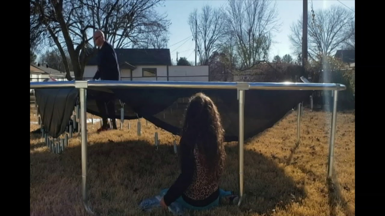 How to assemble a trampoline and put it together - YouTube