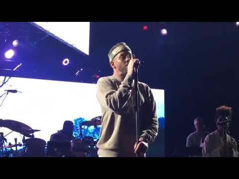 tobyMac performing 21 Years live February 4, 2020 at the Chesapeake Energy Arena in Oklahoma City OK