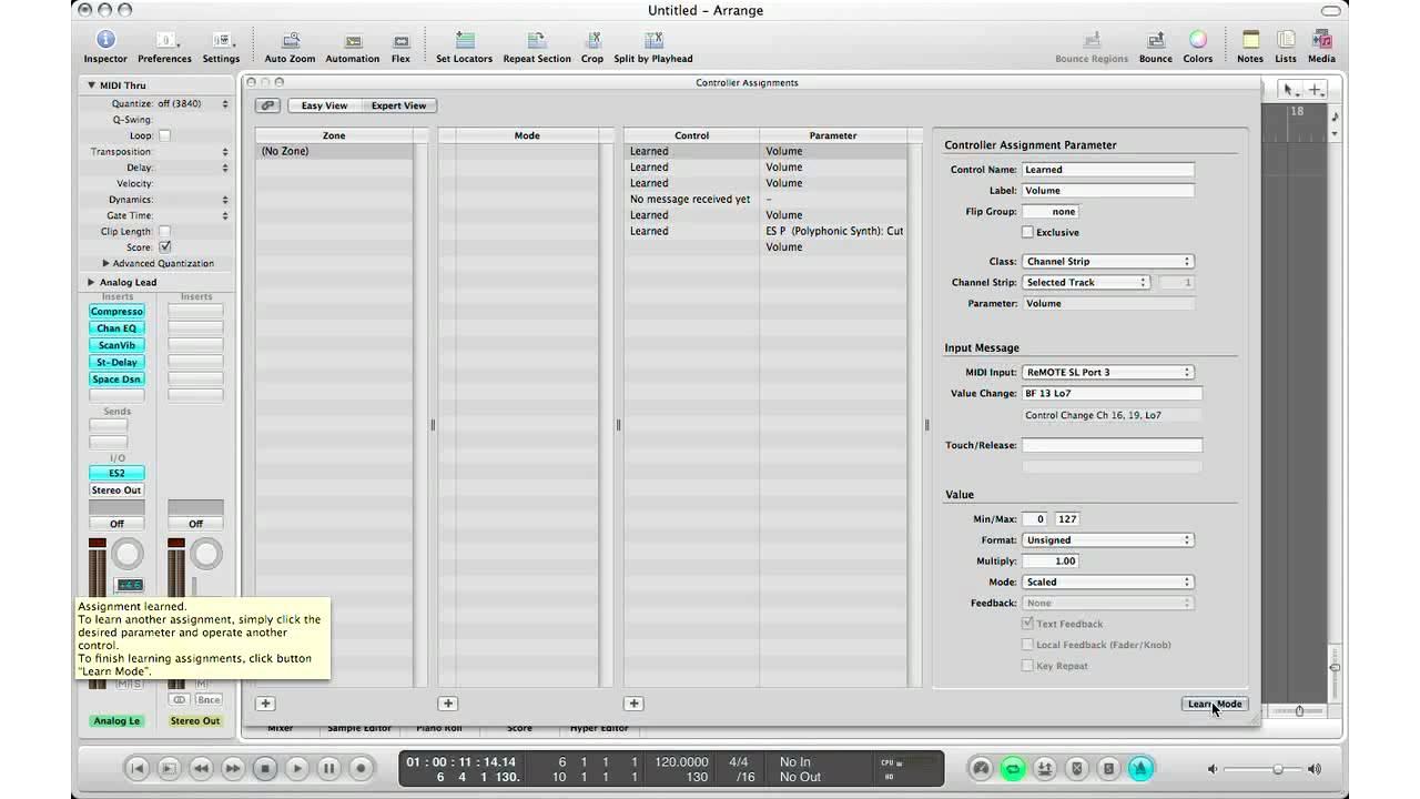 midi foot controller logic pro x