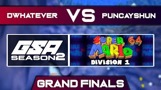 Dwhatever vs puncayshun | Grand Finals | GSA SM64 70 Star Speedrun League D1 Season 2