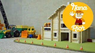 Папа Рич (Rich) Видео для детей (развивающее, обучающее) строим дом для игрушек (игрушечный дом)