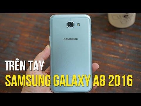 Trên tay Samsung Galaxy A8 2016 - Xanh Coral bóng bẩy lạ lẫm