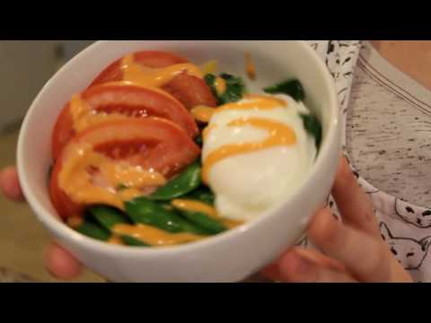Breakfast Bowl || Poached Egg with Snap Peas