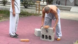 Shaolin Kungfu  Breaking Iron and Bricks
