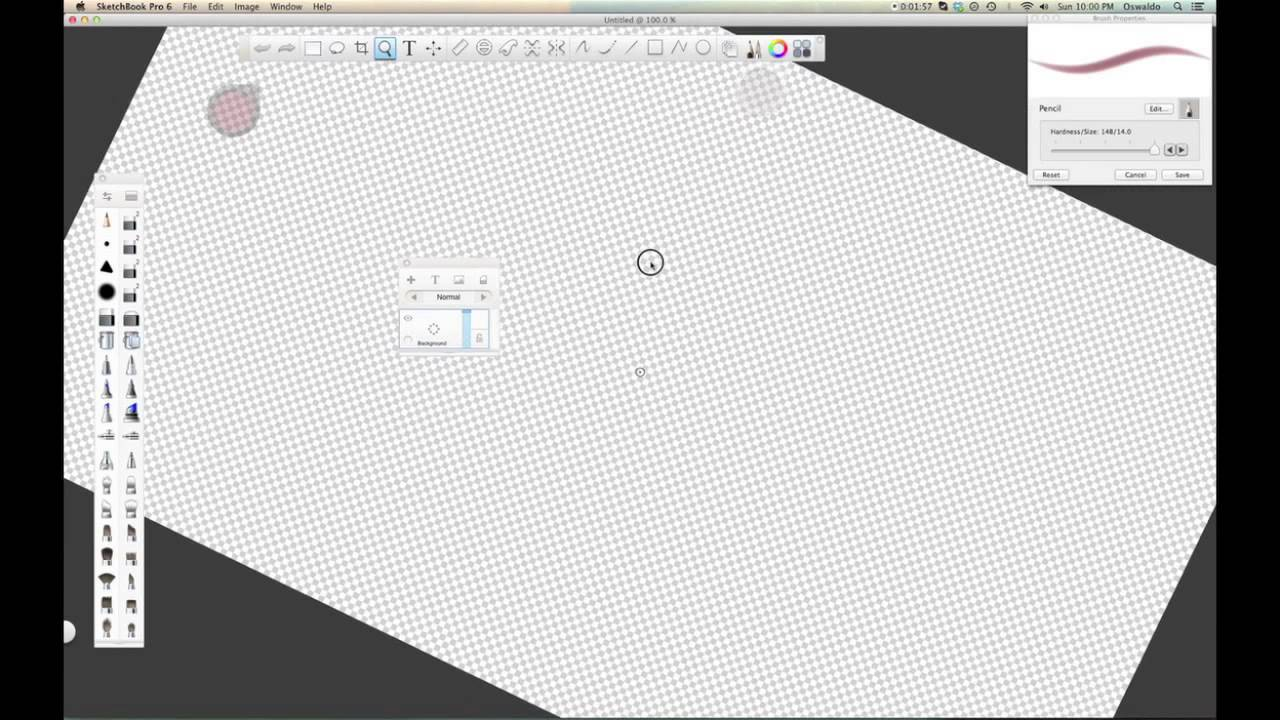 Rotating the canvas in Sketchbook Pro 6 using a Wacom Touch Ring