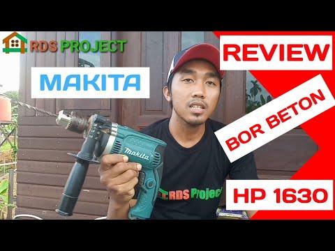 Review Bor Beton Makita HP 1630 // serta perbedaan mata bor kayu dan beton