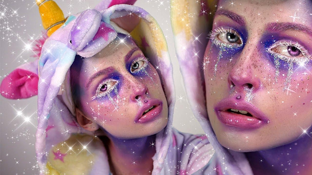 Jednorożec Makijaż Unicorn Elfgutz Makeup Youtube