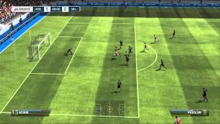 FIFA 13 (Wii U) - Two-player Quick Match footage