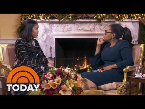 Michelle Obama Speaks To Oprah As Bill...