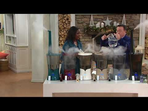 Air Innovations Clean Mist Top Fill Humidifier with Aroma Tray on QVC
