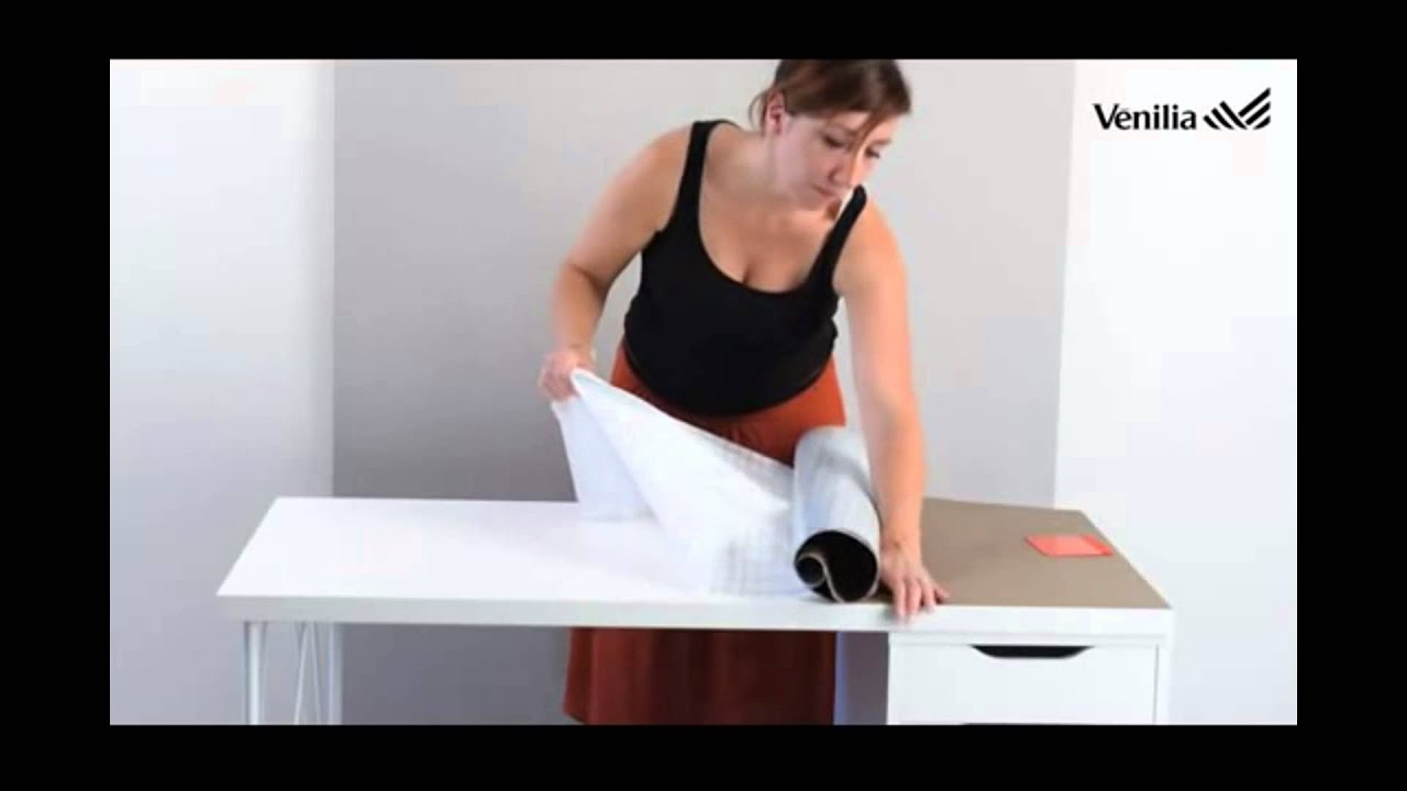 Customiser un bureau avec de l adhésif venilia texturé youtube