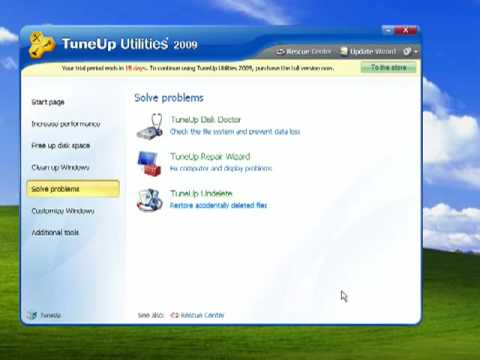How to solve Problems with TuneUp Utilities 2009