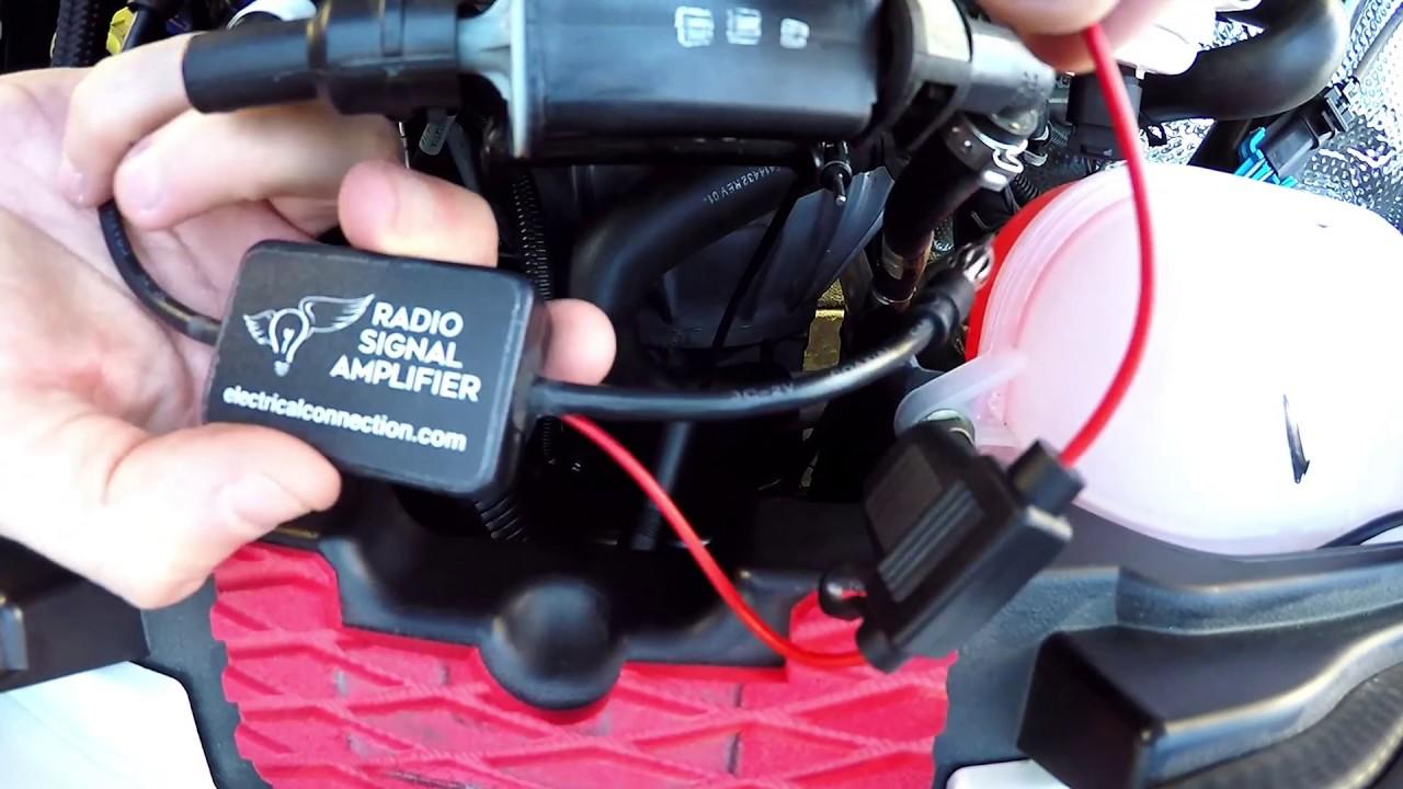 AM / FM Radio Signal Amplifier for the Polaris Slingshot