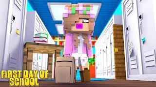 BABY LITTLE KELLYS FIRST DAY OF KINDERGARTEN!   Minecraft Little Kelly