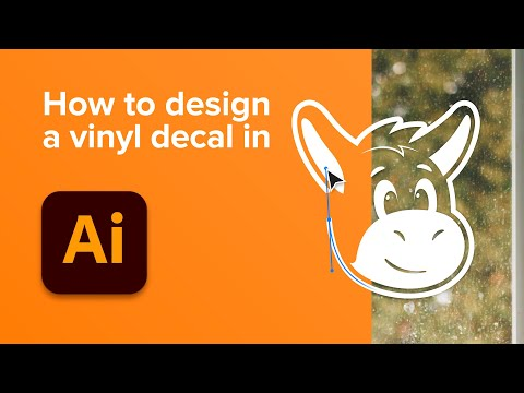 How to design a vinyl decal (transfer sticker)