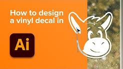 How to design a vinyl decal (transfer sticker)