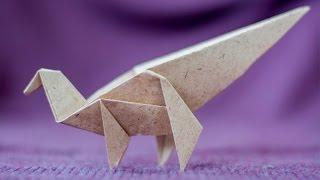 Origami Dinosaur. How to make paper dinosaur. Maiasaura