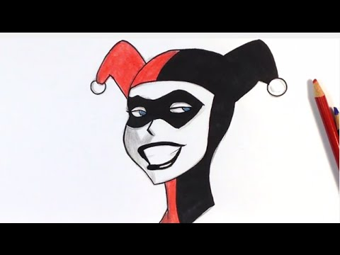 How To Draw Harley Quinn Step By Step Easy Drawings Youtube