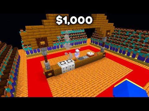 então eu fiz um MASTERCHEF no MINECRAFT valendo 1.000 MIL