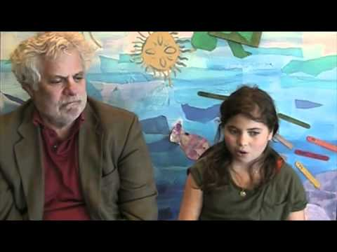 Author Mark Kurlansky and his daughter Talia on their New England Aquarium lecture