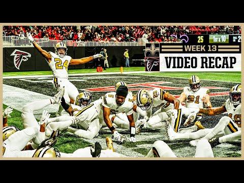 Saints-Falcons Week 13 Video Recap | New Orleans Saints Football