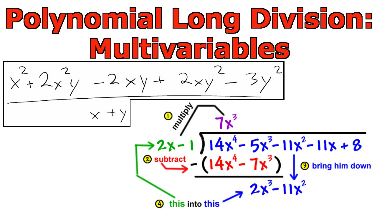 Polynomial Long Division Multiple Variables Youtube