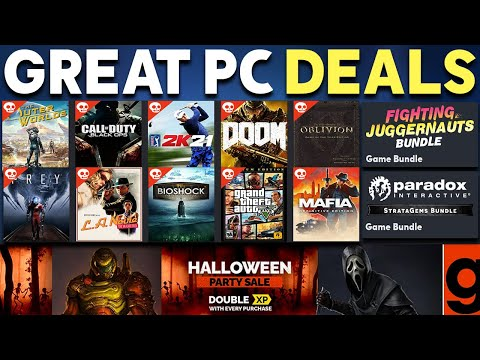 GREAT PC GAME DEALS RIGHT NOW - HALLOWEEN SALE + GAME BUNDLES! (Cheap PC Games 2021) thumbnail