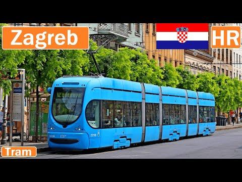 Croatia , Zagreb tram 2021 [4K]