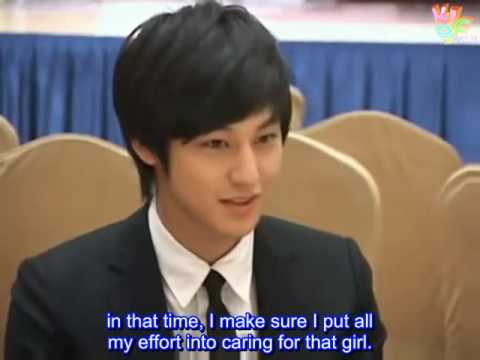 [Eng Subbed] Kim Bum - BOF Press Conference Interview  [081222]
