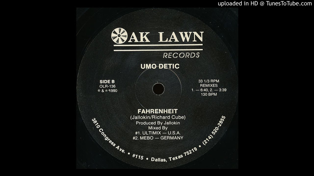 Umo Detic - Fahrenheit (Ultimix Remix)