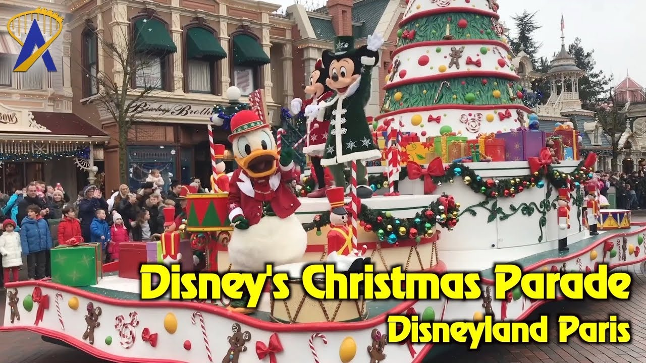 disneys christmas parade at disneyland paris 2017