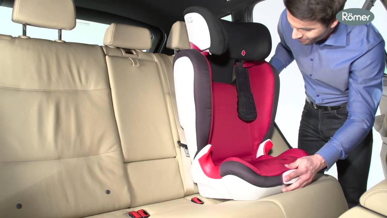 Kid xp britax r mer installation youtube for Siege auto 4 ans