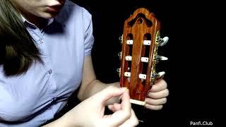 Как поменять (поставить) струны на классической гитаре