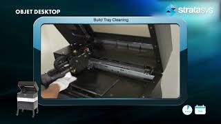 Stratasys Academy | PolyJet Desktop Series: Cleaning the Build Tray