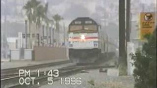 Amtrak & Coasters, Old Town & Noell St, 10/5/96