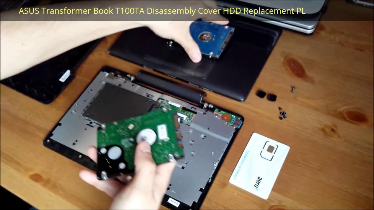 ASUS Transformer Book T100TA Otwarcie Obudowy - YouTube